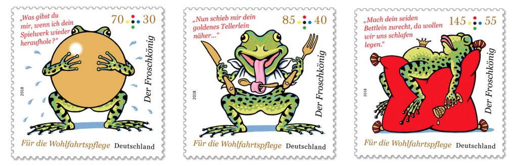 Neue Wohlfahrtsmarken: Froschkönig